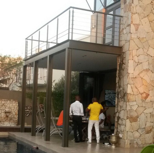 Pictures For House: Oskido Congratulates DJ Shimza On His New Home
