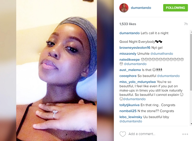 Is Ntando Duma Engaged Zalebs