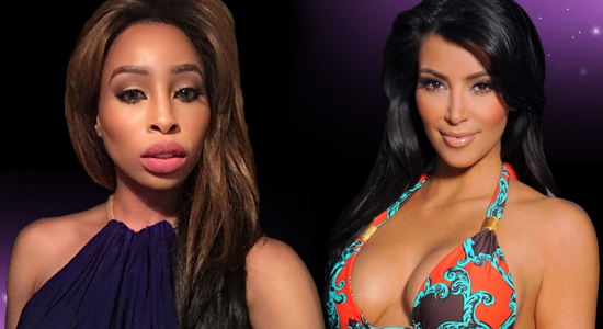 Khanyi Mbau and Kim Kardashian