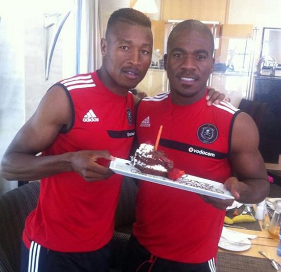 Siyabonga Sangweni and Senzo Meyiwa